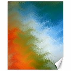 Texture Glass Colors Rainbow Canvas 11  x 14