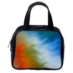 Texture Glass Colors Rainbow Classic Handbags (One Side)