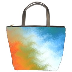 Texture Glass Colors Rainbow Bucket Bags