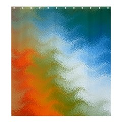 Texture Glass Colors Rainbow Shower Curtain 66  x 72  (Large)