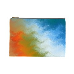 Texture Glass Colors Rainbow Cosmetic Bag (large)