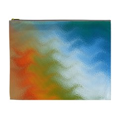 Texture Glass Colors Rainbow Cosmetic Bag (XL)