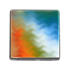 Texture Glass Colors Rainbow Memory Card Reader (Square)