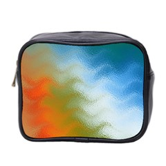 Texture Glass Colors Rainbow Mini Toiletries Bag 2-Side