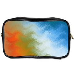 Texture Glass Colors Rainbow Toiletries Bags 2-Side