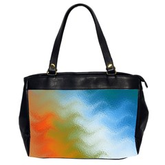 Texture Glass Colors Rainbow Office Handbags (2 Sides)