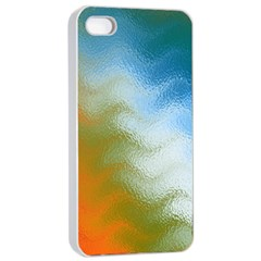 Texture Glass Colors Rainbow Apple iPhone 4/4s Seamless Case (White)
