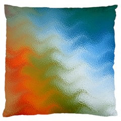 Texture Glass Colors Rainbow Large Cushion Case (two Sides)