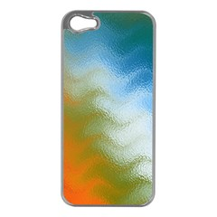 Texture Glass Colors Rainbow Apple iPhone 5 Case (Silver)