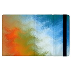 Texture Glass Colors Rainbow Apple Ipad 2 Flip Case