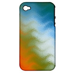Texture Glass Colors Rainbow Apple Iphone 4/4s Hardshell Case (pc+silicone)