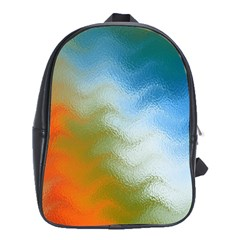 Texture Glass Colors Rainbow School Bags (XL)