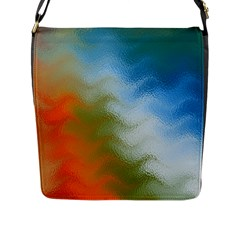Texture Glass Colors Rainbow Flap Messenger Bag (l)