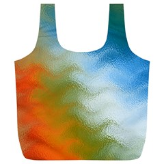 Texture Glass Colors Rainbow Full Print Recycle Bags (l)