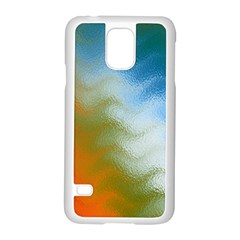 Texture Glass Colors Rainbow Samsung Galaxy S5 Case (white)
