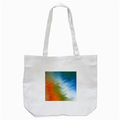 Texture Glass Colors Rainbow Tote Bag (white)