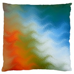 Texture Glass Colors Rainbow Large Flano Cushion Case (two Sides)