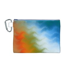 Texture Glass Colors Rainbow Canvas Cosmetic Bag (m)