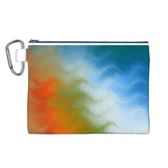 Texture Glass Colors Rainbow Canvas Cosmetic Bag (l)