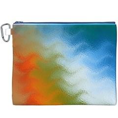 Texture Glass Colors Rainbow Canvas Cosmetic Bag (XXXL)