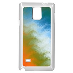 Texture Glass Colors Rainbow Samsung Galaxy Note 4 Case (White)