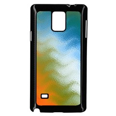 Texture Glass Colors Rainbow Samsung Galaxy Note 4 Case (Black)