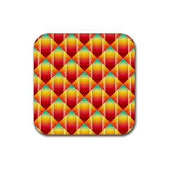 The Colors Of Summer Rubber Square Coaster (4 Pack)