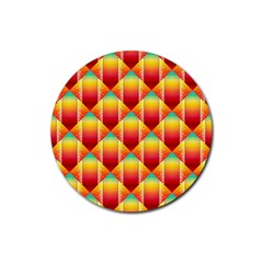 The Colors Of Summer Rubber Round Coaster (4 pack)