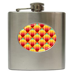 The Colors Of Summer Hip Flask (6 oz)