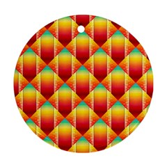 The Colors Of Summer Round Ornament (two Sides)