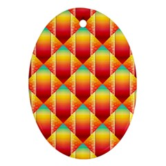 The Colors Of Summer Oval Ornament (Two Sides)