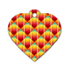 The Colors Of Summer Dog Tag Heart (one Side)