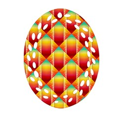 The Colors Of Summer Ornament (oval Filigree)