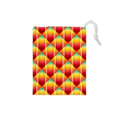 The Colors Of Summer Drawstring Pouches (small)