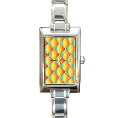 The Colors Of Summer Rectangle Italian Charm Watch