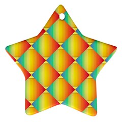The Colors Of Summer Ornament (Star)