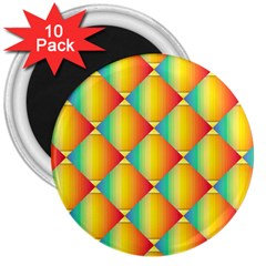 The Colors Of Summer 3  Magnets (10 pack)