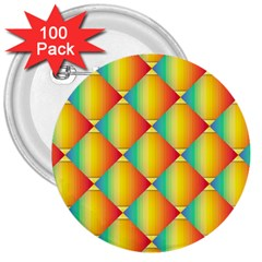 The Colors Of Summer 3  Buttons (100 Pack)