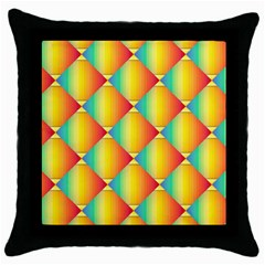 The Colors Of Summer Throw Pillow Case (Black)
