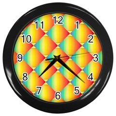 The Colors Of Summer Wall Clocks (Black)