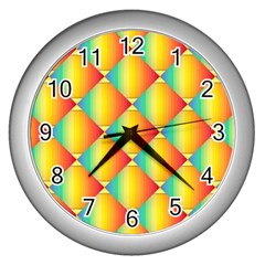 The Colors Of Summer Wall Clocks (Silver)