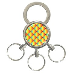 The Colors Of Summer 3 Ring Key Chains