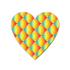 The Colors Of Summer Heart Magnet