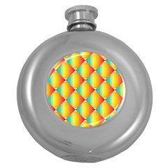 The Colors Of Summer Round Hip Flask (5 Oz)