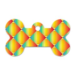 The Colors Of Summer Dog Tag Bone (Two Sides)