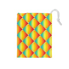 The Colors Of Summer Drawstring Pouches (medium)
