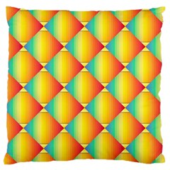 The Colors Of Summer Large Flano Cushion Case (One Side)