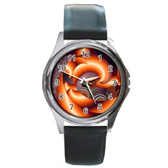 The Touch Digital Art Round Metal Watch