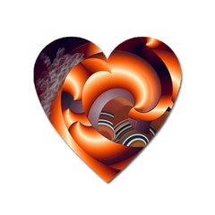 The Touch Digital Art Heart Magnet