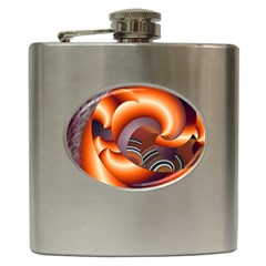 The Touch Digital Art Hip Flask (6 Oz)
